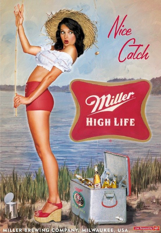 Nice Catch. Miller High Life Poster Series.