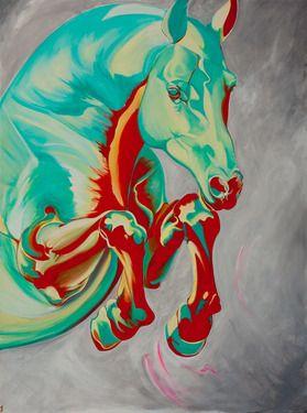 "Saatchi Online Artist: Yaheya Pasha; Acrylic, 2011, Painting ""The Leap"""