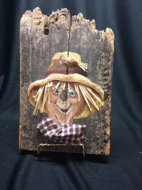 Old Barnwood Scarecrow Picture | eBay