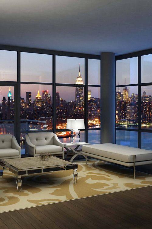 NYC view. ▇  #Home #Design http://www.IrvineHomeBlog.com/HomeDecor/  ༺༺  ℭƘ ༻༻