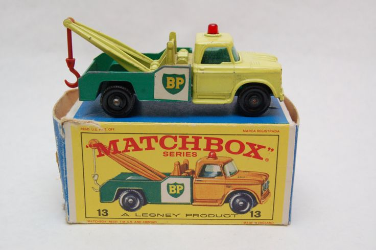Matchbox Lesney #13 Dodge BP Gas Wreck Truck Tow Truck with Original Box Toy collection now for sale by RememberWhenToys on Etsy
