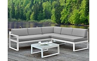 Kauf-Unique Lounge Sitzgruppe Aluminium PALAOS - Grau