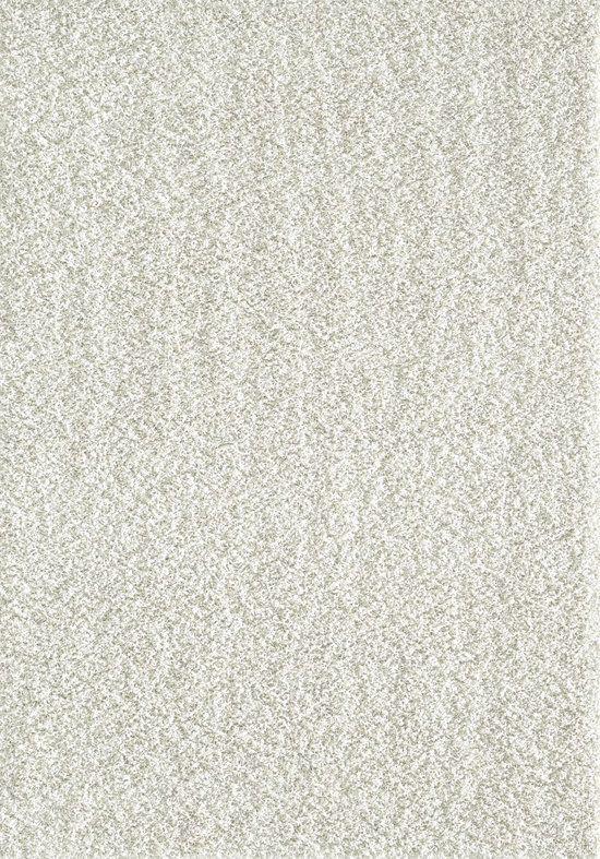 Vloerkleed Creme Effen Hoogpolig Tapijt Loca -  80x150 cm