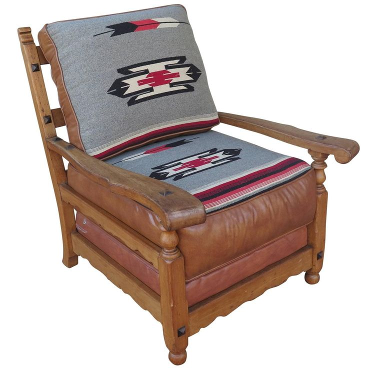 Western Cabin Style Chair with Leather and Chimayo Upholstery - 49 Best Old California Antique Furniture Images On Pinterest