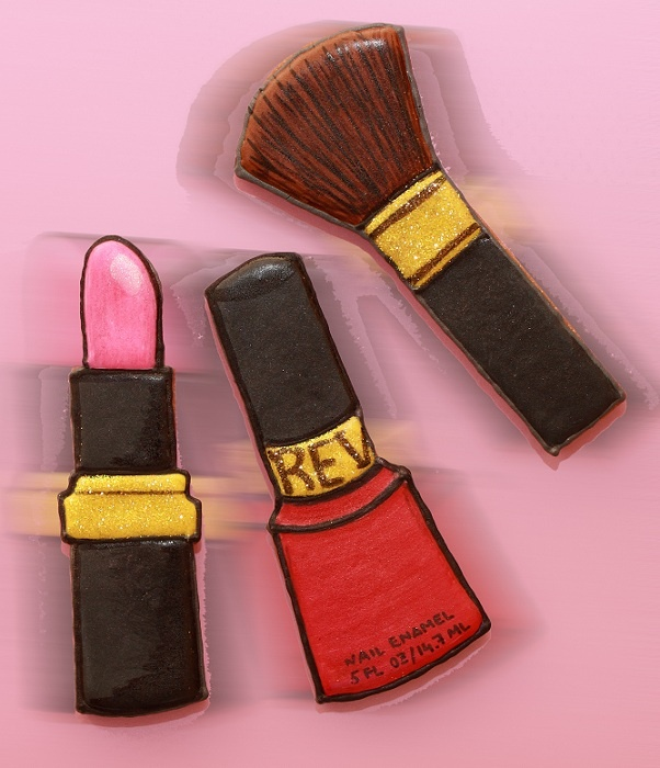 makeup brush, CUKI CHIC Galletas decoradas