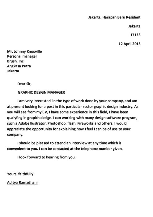 example cover letter for job write a letter of application application letter 21543