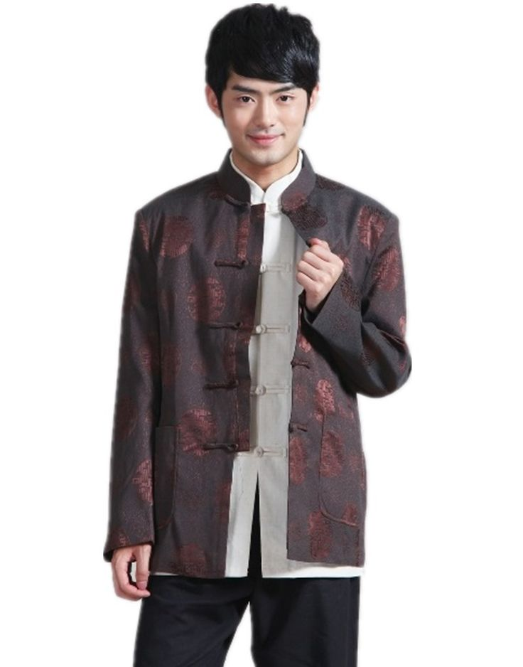 Shanghai Story Chinese traditional Jacket tang suit clothes mandarin collar Blend wool fabric chinese marry jacket 2 color 2285