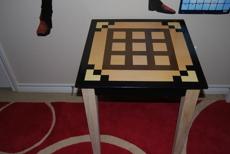 How to make end tables in minecraft woodworking projects plans - Crafting table on minecraft ...