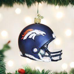 Old World Christmas Denver Bronco NFL Football Helmet Glass Ornament direct from the ChristmasOrnamentStore.com