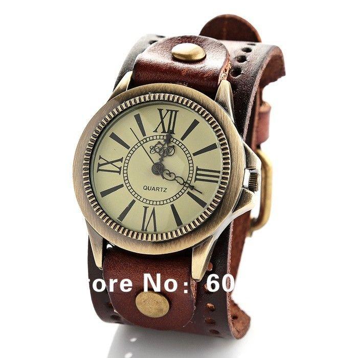 Nova moda grande esporte de pulso de quartzo homens mulheres marca de luxo militar relógios pulseira de couro JW1743 em Relógios Antigos de Relógios no AliExpress.com   Alibaba Group