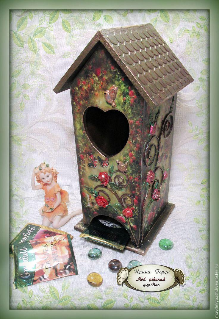 """Чайный домик """"В саду цвели розы"""" - тёмно-зелёный, чайный домик"""