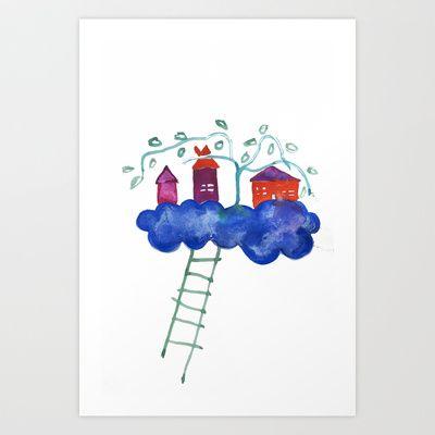 In The Clouds Art Print by Hayley Egan - $16.00
