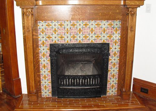 antique fireplace makeover project with bonita reproduction rh pinterest com antique fireplace tiles london antique fireplace tiles uk