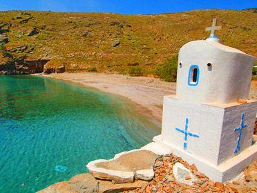 tzia island greece - liparos beach