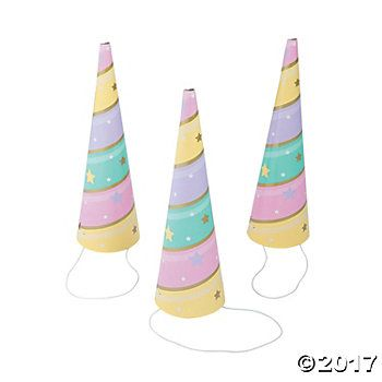 Unicorn Sparkle Deluxe Horn Glitz Party Hats - 8 Pk Party Supplies Canada - Open A Party