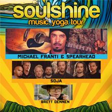 97.3 KBCO Presents The Soulshine Music Yoga Tour featuring headliner Michael Franti & Spearhead with SOJA, Brett Dennen Sun, Jul 6, 2014 at Red Rocks Amphitheatre, Morrison, Colorado