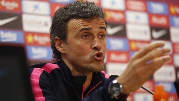 """Luis Enrique, técnico del Barcelona: """"Como entrenador nunca disfrutas"""""""