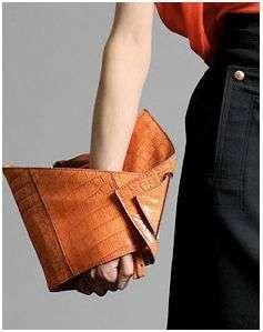 Origami Bags - Chloe Leather Alligator Fold Clutch