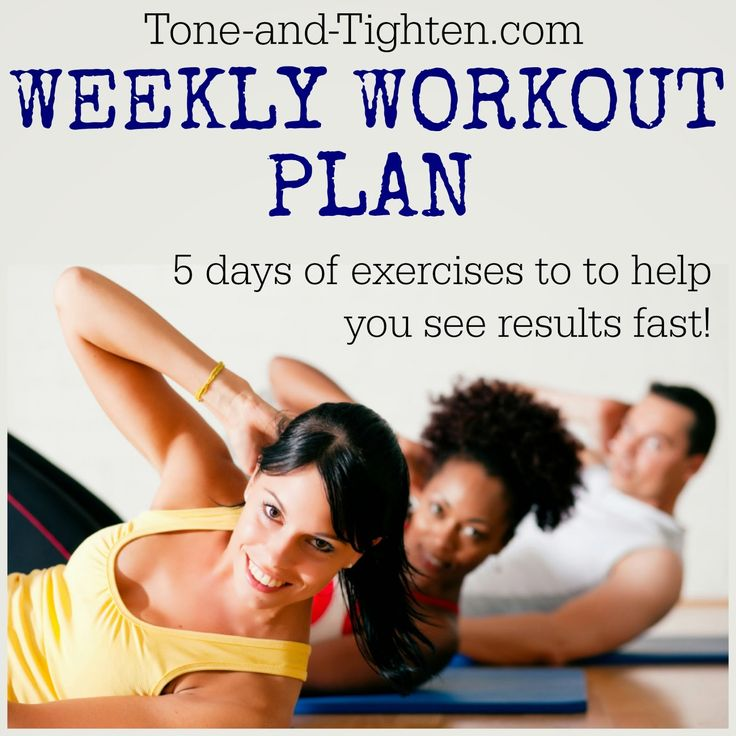 Your whole week's workouts in one convenient location! From Tone-and-Tighten.com #workout #fitness