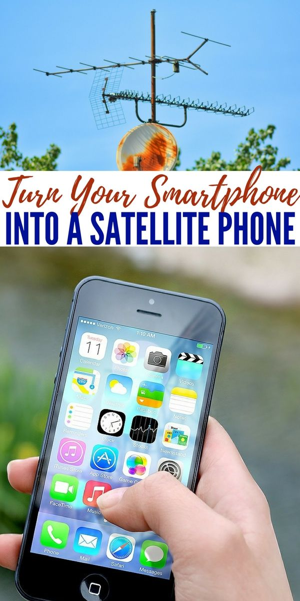Turn Your Smartphone Into A Satellite Phone — We all know how cell phones can work on one street and then have no signal on another part of the same street. This makes cell phone not the best option for survival if you get lost in the desert or dense woods.