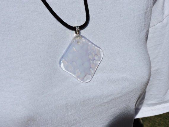 34 mejores imgenes de pendants for sale en pinterest envoltura de clear and white fused glass pendant by violetglass123 on etsy aloadofball Gallery
