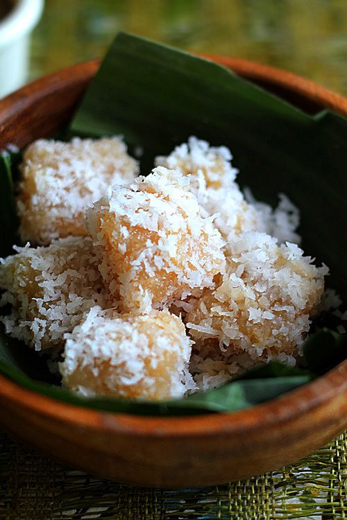 Cassava Cake with Shredded Coconut: These cassava cake with shredded coconut is absolutely delightful and lovely, both to the eyes and the taste buds.