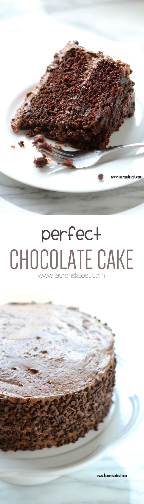 Perfect Chocolate Cake:  2 cups milk. 2 teaspoons white vinegar. 2/3 cup canola oil. 1 1/2 cups granulated sugar. 4 teaspoons vanilla extract. 2 cups all purpose flour. 2/3 cup cocoa powder, sifted. 1 1/2 teaspoon baking soda. 1 teaspoon baking powder. pinch of salt.   Preheat oven to 350 degrees. In a large bowl, whip oil and sugar together. Stir in vanilla. In a measuring cup, stir almond milk and vinegar together. Set aside to curdle. In a different bowl, stir all dry ingredients together…