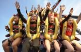 Six Flags Magic Mountain Six Flags Magic Mountain in Valencia is home to 17 roller coasters, which is the most coasters found at any amuse...