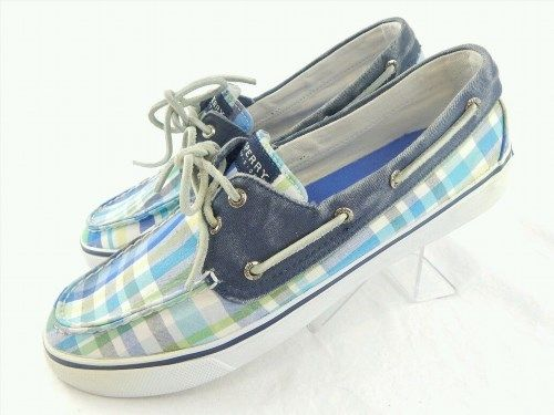 16.99$  Watch now - http://visei.justgood.pw/vig/item.php?t=y0fh4g26873 - Sperry Top-Sider Size 10M Womens Blue Boat Shoes Loafers Checker 217 16.99$