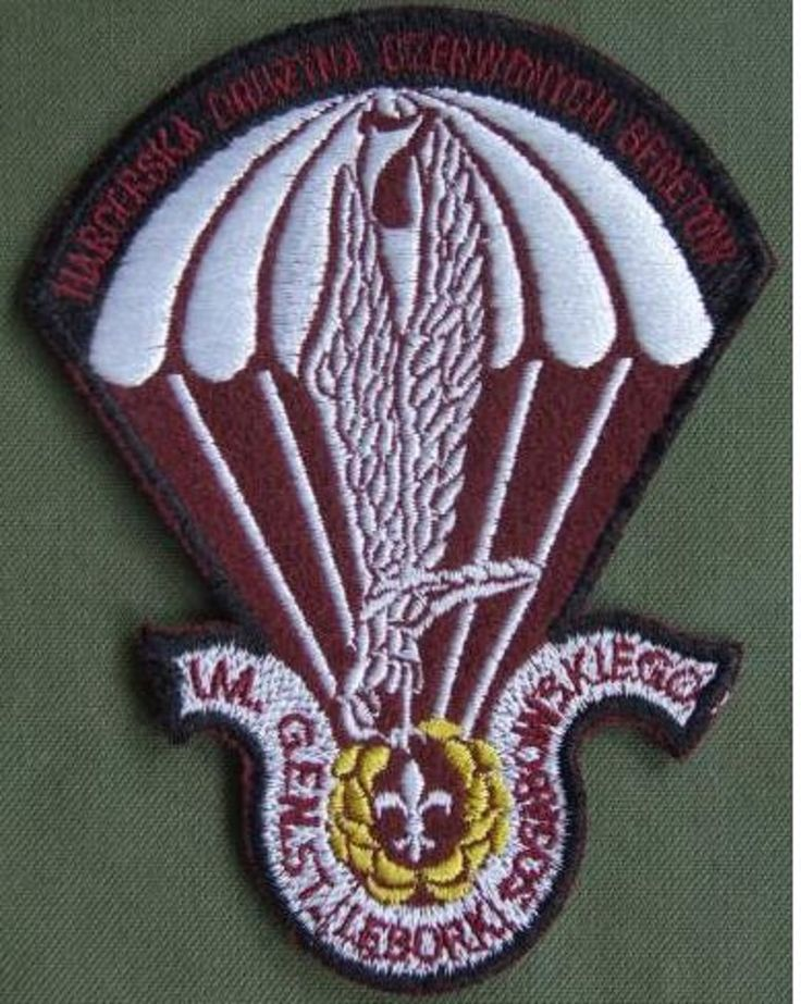 Poland Scout Parachute Shoulder Patch  the patch is in mint condition