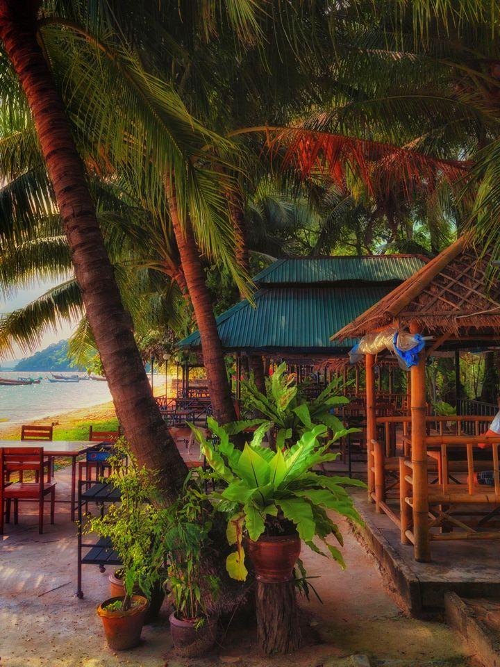 cafe along on Gypsy Beach Siray Island