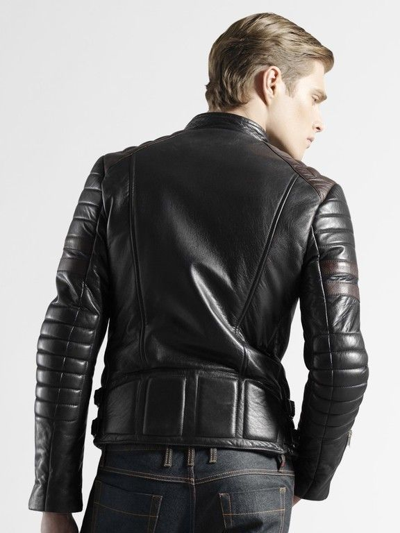 http://www.leathernxg.com/10-mens-leather-biker-jacket  Men's leather biker jackets are great confidence providing outfit. Leather biker jackets have their own unique styling and perfect for making daring and stylish statements both. These jackets come in various styles, colours and designs that help to enjoy bold and unique look. Protection is the main major aim of a leather motorcycle jacket.