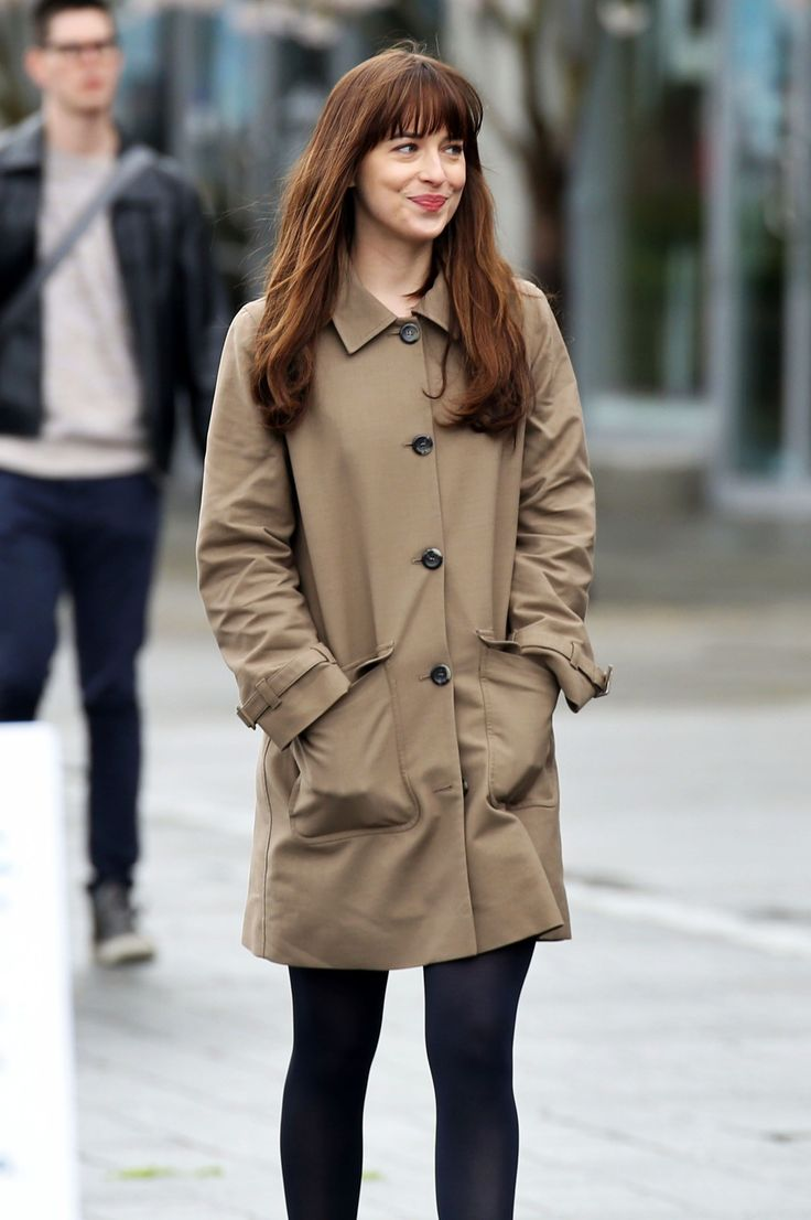 Dakota Johnson films Fifty Shades Darker on March, 14