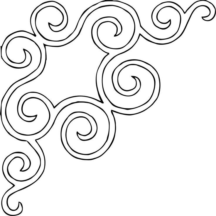 Flourish of Fruit corner motif