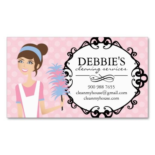 home cleaning business cards