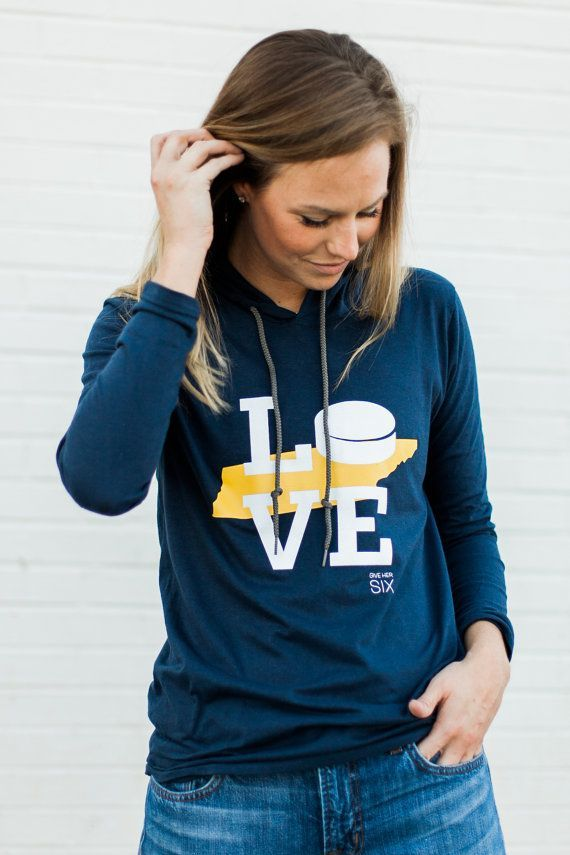 Nashville Predators Hockey Women's Hockey Hoodie by GiveHerSix