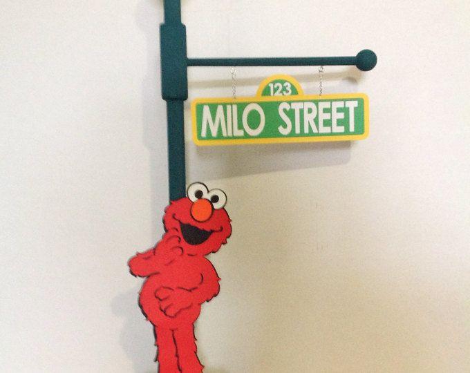 Centro de mesa de centro de mesa de Elmo Sesame Street Elmo Elmo fiesta lámpara Post