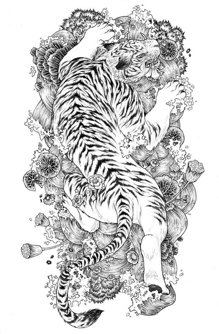 Tiger tattoo  Genau das!!!!! Amazing gorgeous beautiful tattoo design