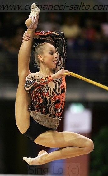 Inna Zhukova, Belarus, is 2006 Grand Prix Final all-around bronze medalist.