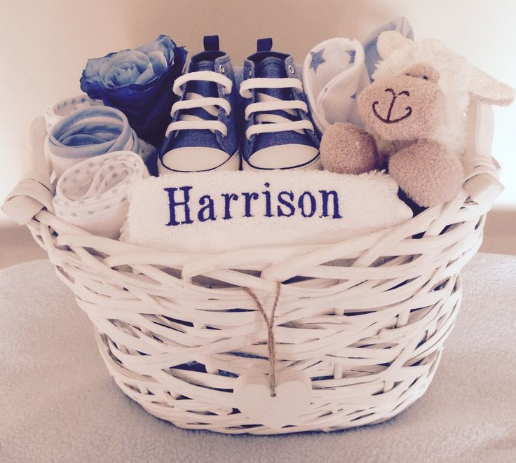 Image of Sonny the Sheep - Personalised Baby Boy Gift Basket