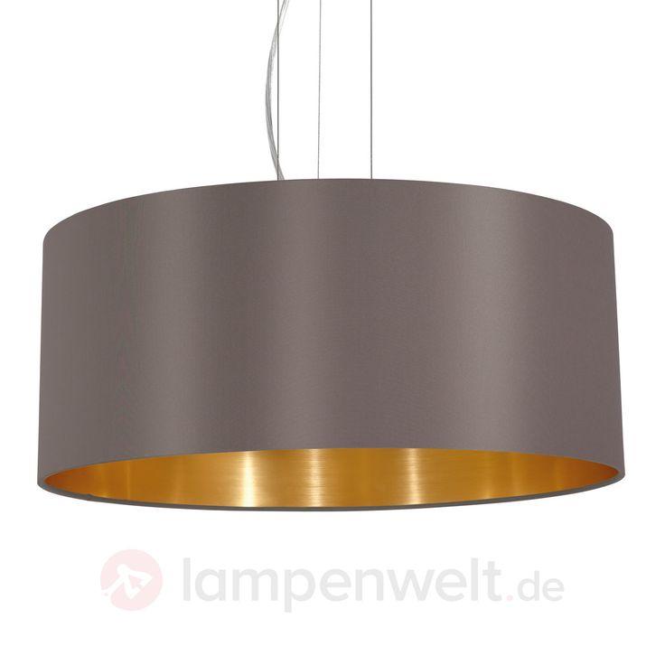 Runde Textil-Hängeleuchte Carpi 3031702