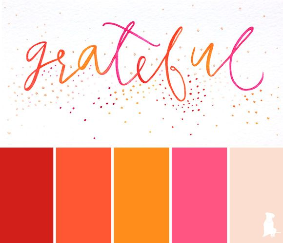 A Bright Watercolor Inspired Color Palette Red Tangerine Orange Pink Schemes Inspiration