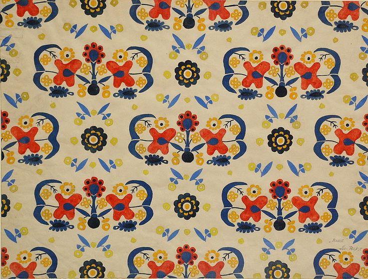 Textile print by Leon Bakst