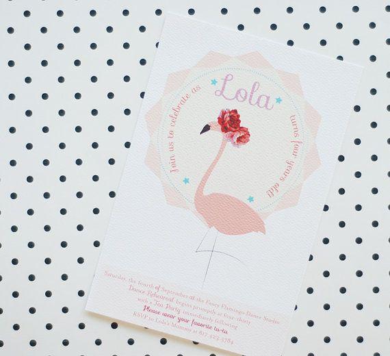 Flamingo Invitation Digital Printable DIY Invite by umama143
