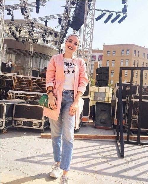 Boyfriend jeans-Turban hijab styles ideas – Just Trendy Girls