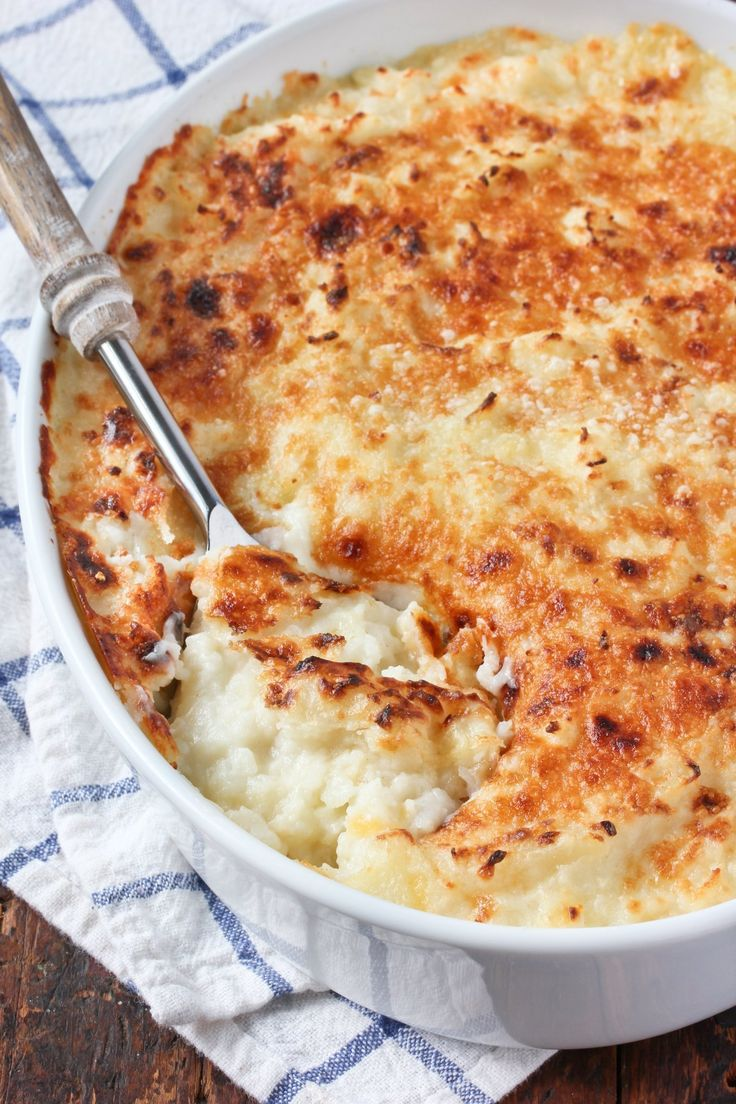 Mashed potatoes are a family favorite, but this decadent casserole takes the classic to a whole new level. The flavors of a fully loaded baked potato are baked until gooey and bubbling, making this dish impossible to resist. It's holiday-worthy for sure, but don't wait for a special occasion. Add this comfort food to your list of fall favorites — and oh yeah, don't forget to share!