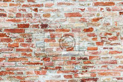Fotobehang Oude bakstenen muur