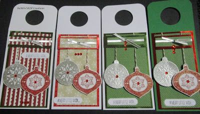 BaRb'n'ShEll Creations - Christmas Wine Bottle Tags - made by Shell