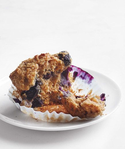 Whole-Grain Blueberry Muffins | Not a morning person? Try these easy breakfast ideas you can prepare in advance.