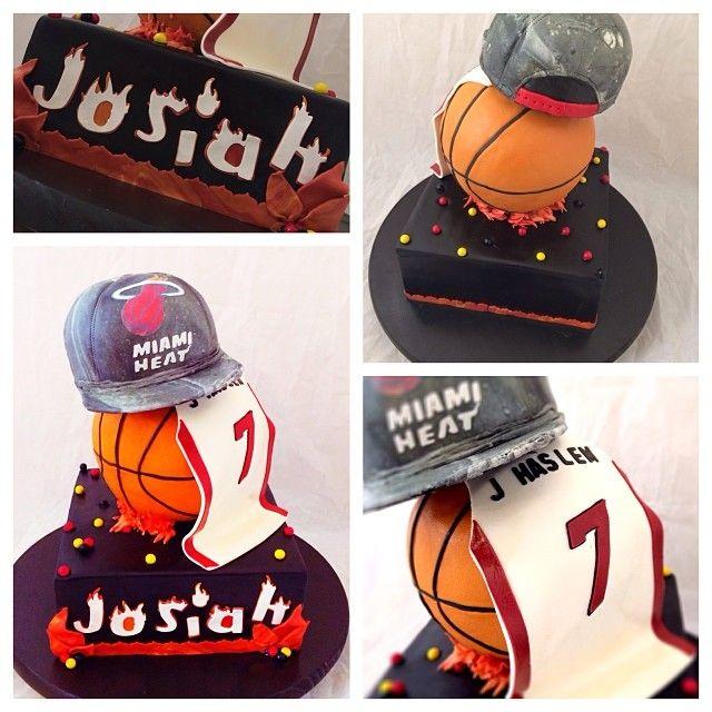 Miami Heat Cake! #cake #bake #miamiheat